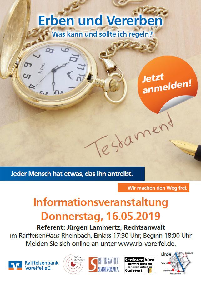"""Plakat """"Erben und Vererben"""